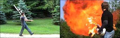 flammenwerfer, gaskanone, feuer, feuerwehr
