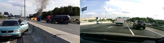 Gasflaschen, Autobahn, Explosion