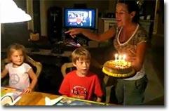 Geburtstagstorte, Unfall, fällt runter