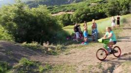 Fahrrad, Sturz, See, Frau
