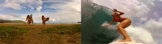 GoPro HD HERO Alana and Monyca Surfing Hawaii