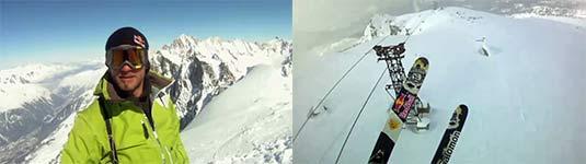 gleitschirm, ski, seilbahn