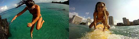 Skifahren, Surfboarden, Motorradfahren, HD Videoaufnahmen