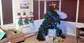 Godzilla Weihnachtsbaum