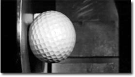 golfball, stahl, slomotion