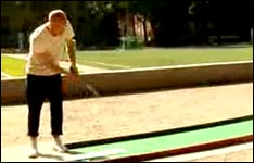 golf spielen, ins auge treffen