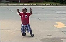 siebenjähriger Tänzer