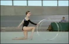 Gymnastic Reifen Werbung