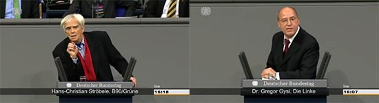Bundestag, NSA, Gysi, STröbele