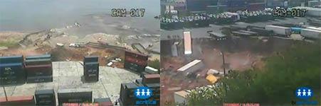 Erdrutsch, Meer, Hafen, Brasilien, Rio Negro