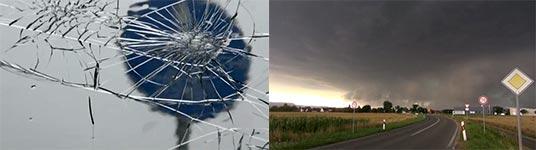 Hagelunwetter und Superzelle über Reutlingen