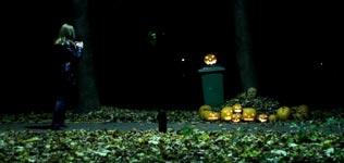 Kürbis-Mann, Halloween, erschrecken