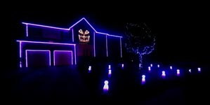 Halloween Light Show 2013