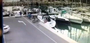 Handbremse anziehen Hafen Dock