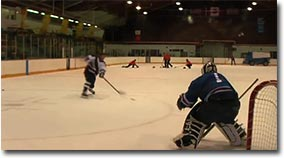 harter schuss, eishockey