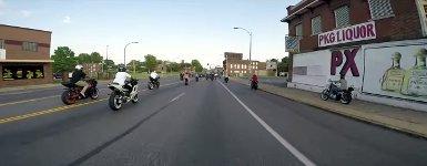 Harley Fußgängerampel