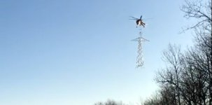 Hubschrauber Elektromast