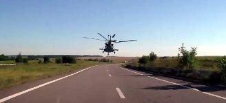 Hubschrauber Helikopter Straße