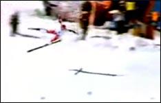 hermann maier , sturz,  nagano 1998
