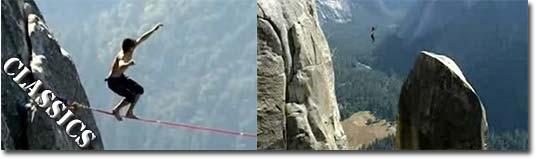 highliner, seil, Felsen, Gebirge