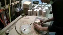 Holzschüssel Handarbeit