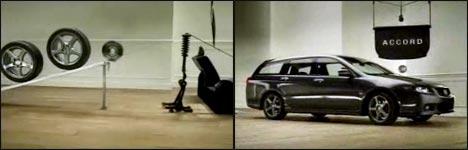 Honda Accord, Auto, Werbung, Domino-Effekt