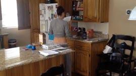 Mutter, tanzen küche