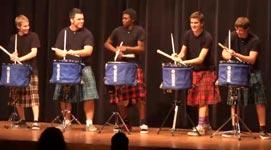 Hot Scots Drum Line