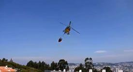 Hubschrauber, Feuer