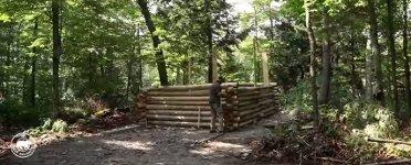 Holzhütte allein bauen