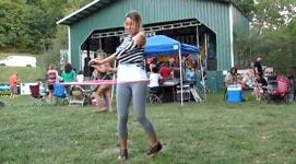 Hula Hoop in Yoga Pants