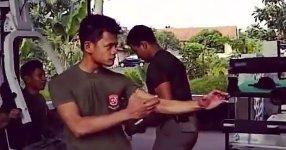 Streitkräfte Indonesiens beim Training