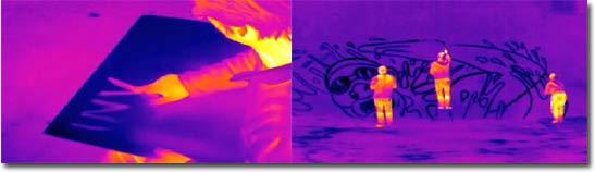Invisible Paintings, Wärmebildkamera, Thermalbilder