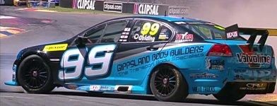 James Golding Dunlop V8 Supercar Crash