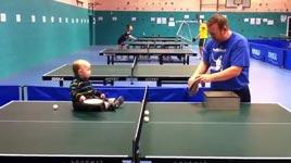 tischtennis, baby, trainieren