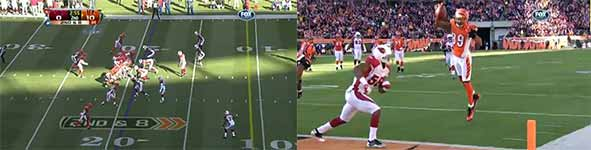 Jerome Simpson, Touchdown Salto, Football