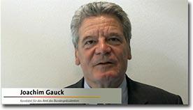 Joachim Gauck, Netzgemeinde, Dank und Gratulation