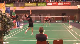 Julien MAIO badminton amazing shot