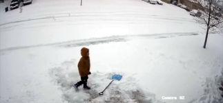 Kein Bock auf Schneeschieben kind