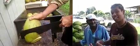 Kokusnuss, Machete, Coconut Cutting