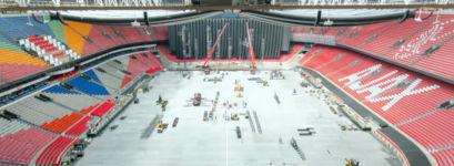 Konzertsaal zur Fußballarena