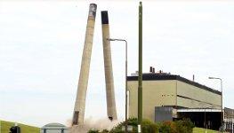 Kraftwerk Türme Sprengung