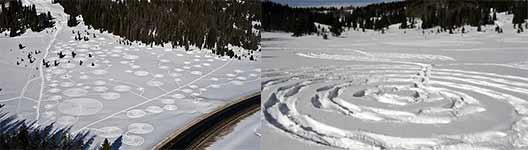Snow Circles, Schnee Kreise