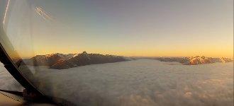 Landeanflug auf Neuseeland