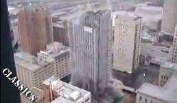 landmark tower , sprengung