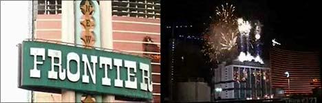 las vegas, spielcasino, abriss, hotel, feuerwerk