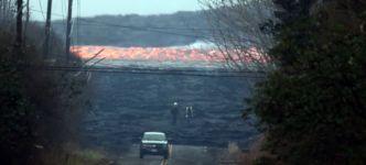 Lava Fließgeschwindigkeit