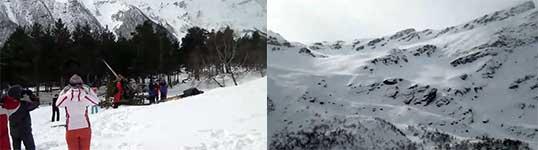 Riesenlawine, Schnee, Cheget Mountain