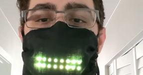 LED Maske Smile lachen