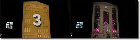 Lichteffekte, Beamer, Haus